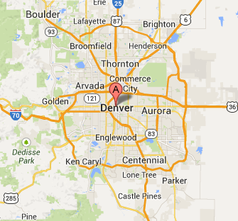 denver colorado service map