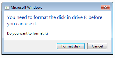 flash drive recovery when asking to format disk