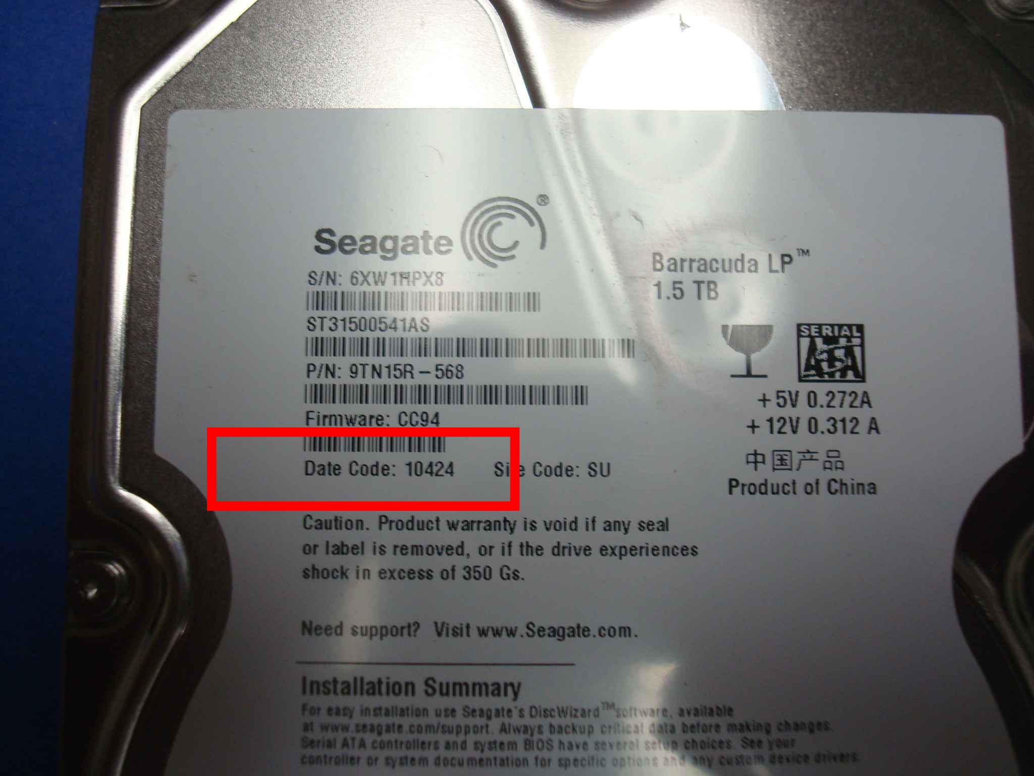 Seagate Date Code Calculator by SERT Data Recovery